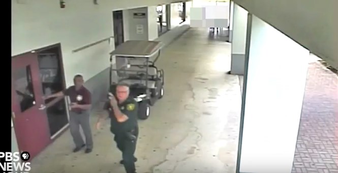 Video Here's The Disgraced Broward County Deputy Just Standing There During Florida Shooting