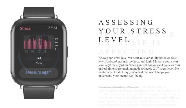Stress level measurement typically starts with HRV, which is tricky to measure with an optical sensor
