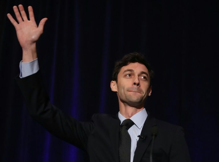 Democratic candidate Jon Ossoff speaks to his supporters