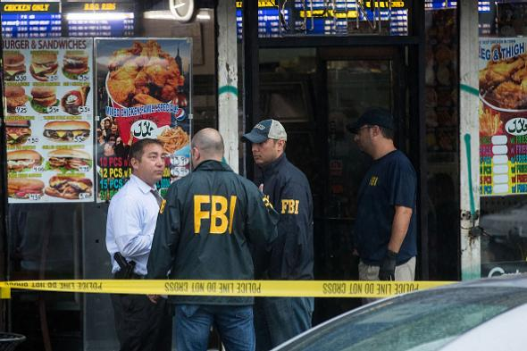 Authorities outward Mohammad Rahami's home and business in Elizabeth New Jersey on Monday. Drew Angerer  Getty Images