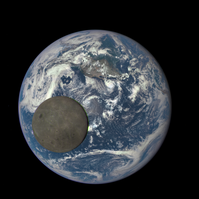 EPIC Earth moon NASA DSCOVR
