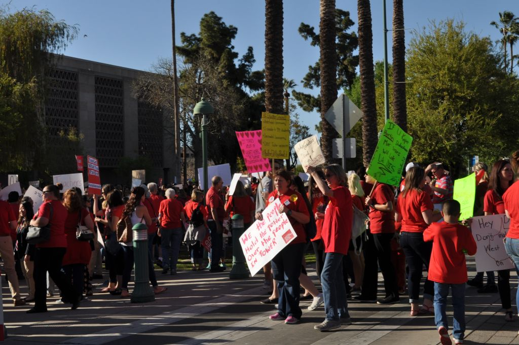 Education Advocates At Arizona's Day Of Action For Education