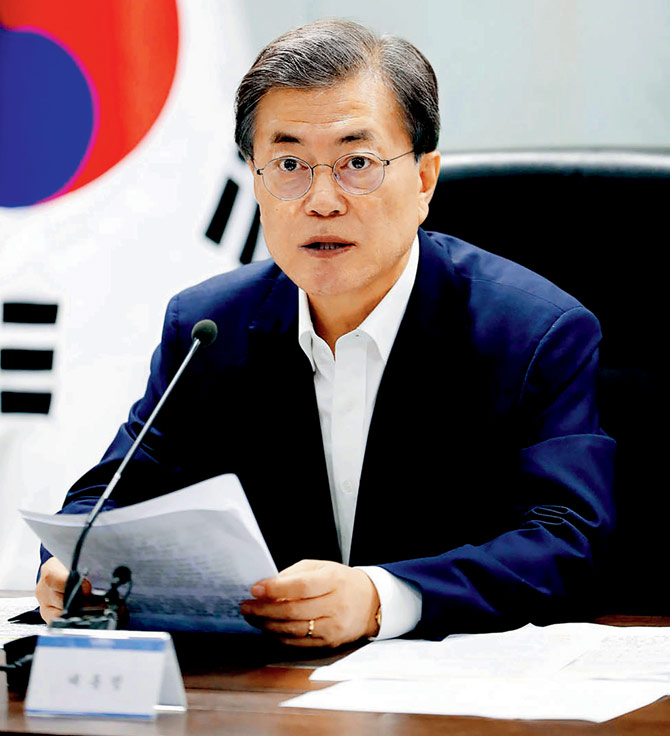 Moon Jae-In. Pic  AFP