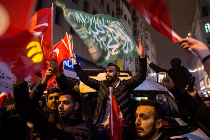 Protesters at the Dutch consulate in Istanbul Turkey | Chris McGrath  Getty Images