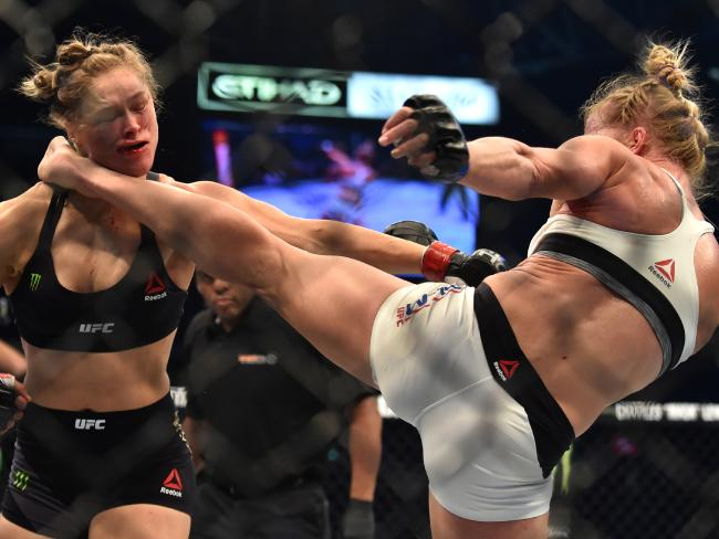 "Ronda Rousey says MMA does not foster violence. It's a ""most obliged opening for it"", she says."