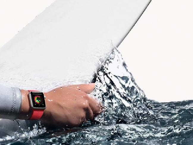 Apple Watch Series 2 is H2O resistant and will start training your stroke. Picture: Apple
