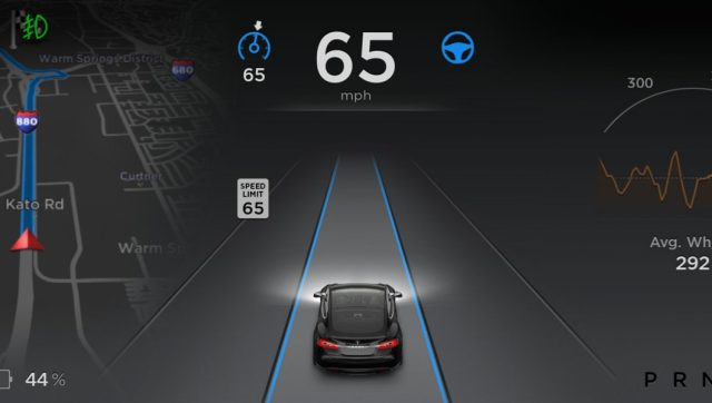 Tesla's Autopilot definitely provides the driver with a lot of helpful data, if the driver is paying attention