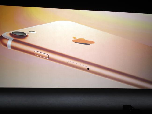 The new iPhone 7 comes in a new operation of colours. Picture: AP