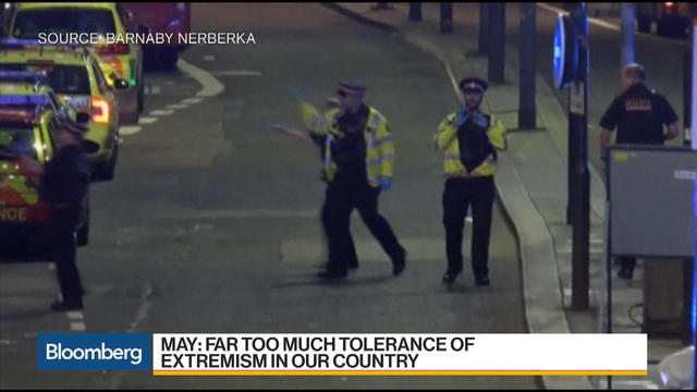 U.K. PM Theresa May Ramps Up Terror Rhetoric