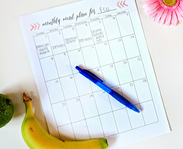 Meal Planning Templates: Monthly Meal Plan