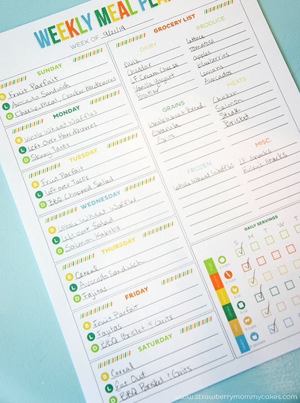 Meal Planning Templates: Weekly Meal Planner