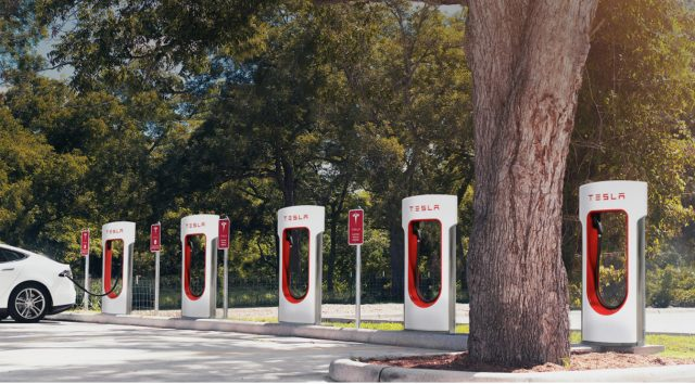 Tesla Superchargers with Model S 181-1