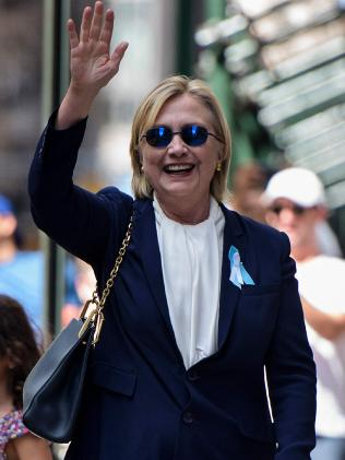 Hillary Clinton was diagnosed with pneumonia on Friday. Picture: AFP/Brendan Smialowski