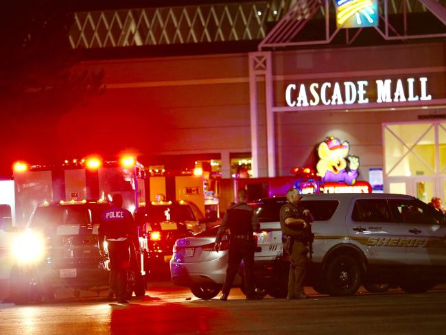 The consider entered a Washington state mall with a purloin and shot passed 5 people, military said. Picture: Dean Rutz/The Seattle Times around AP