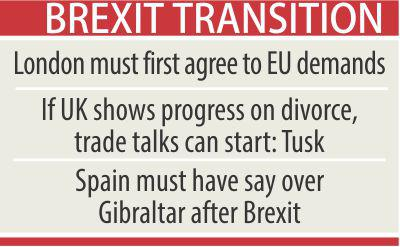 EU draft guidelines soften line on future UK relationship