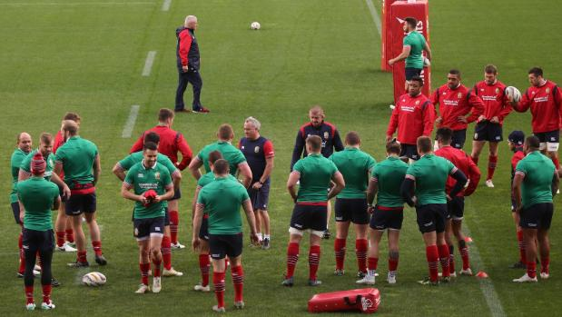Lions at training this week before the deciding test