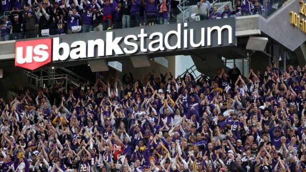 Jan 14 2018 Minneapolis MN USA Fans cheer during the first quarter in the NFC Divisional Playoff football game between the Minnesota Vikings and the New Orleans Saints at U.S. Bank Stadium. Mandatory Credit Brace Hemmelgarn-USA TODAY Sports- 105437