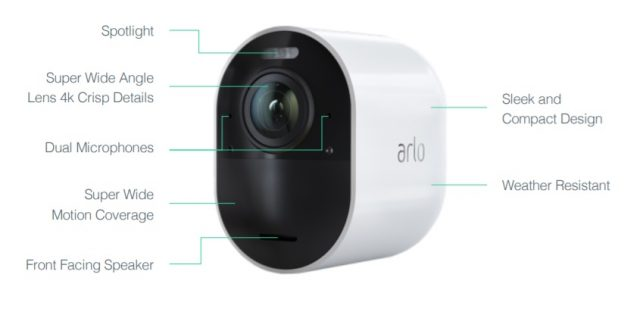 The Arlo Ultra features improved audio as well as upgraded 4K video