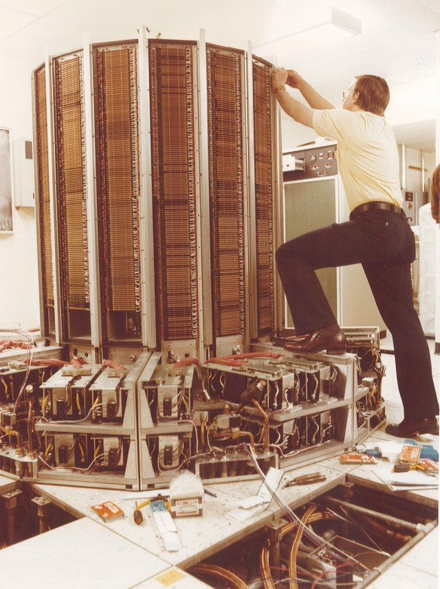 Cray 1 at NERSC being fixed/disassembled