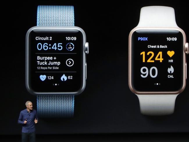 Jeff Williams, Apple's arch handling officer, says Apple's Watch is focused on health and fitness. Picture: AP
