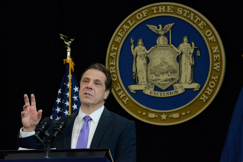 New York Gov. Andrew Cuomo delivers his State of the State address in 2017.nbsp