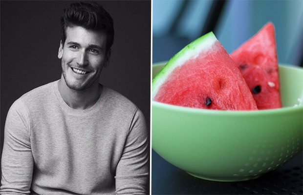 Trainer-Approved Snack Ideas: Watermelon and Almonds; Trainer Bradley Rose