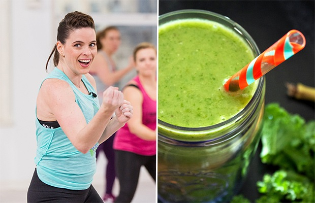 Trainer-Approved Snack Ideas: Smoothies and Raspberries; Trainer Erika Shannon