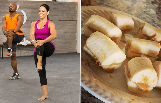 Trainer-Approved Snacks: Banana and Peanut Butter Sandwiches; Trainer Phoenix Carnevale