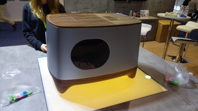 No CES slideshow is complete without a photo of a really strange gadget. This was one of the cat toilets on display.
