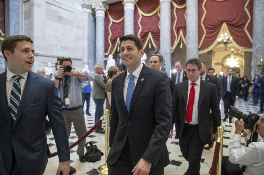 Paul Ryan after the Republican health care bill passed in the House—AP
