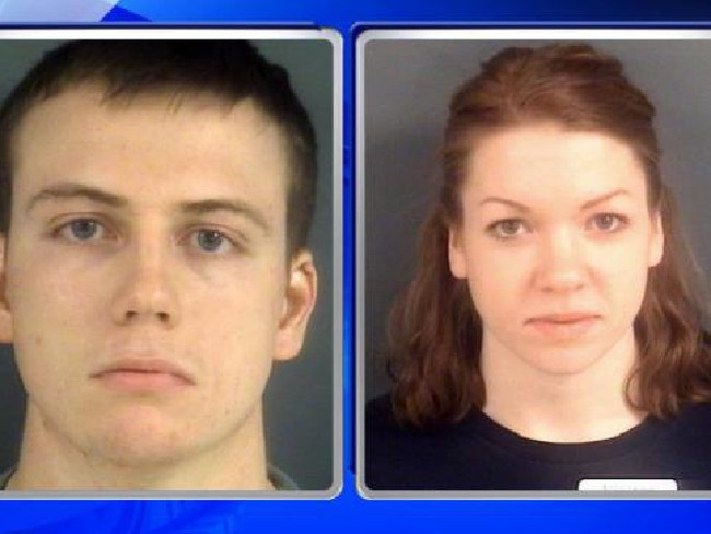 Mugshots of US Army Specialist John Burrow and his mother Kelsey. Pictures: Supplied
