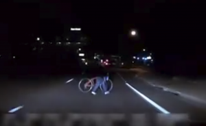 The woman and bicyle were certainly obvious enough that the Uber self-driving lidar and software should have noticed them and reacted
