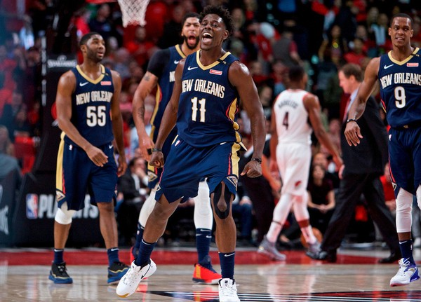 New Orleans guard Jrue Holiday scored a game-high 33 points as the Pelicans defeated the Blazers 111-102 Tuesday night at the Moda Center to take a 2-0 lead in the series