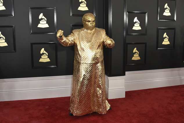 CeeLo Green as his alter ego Gnarly Davidson arrives at the 59th annual Grammy Awards at the Staples Center on Sunday Feb. 12 2017 in Los Angeles