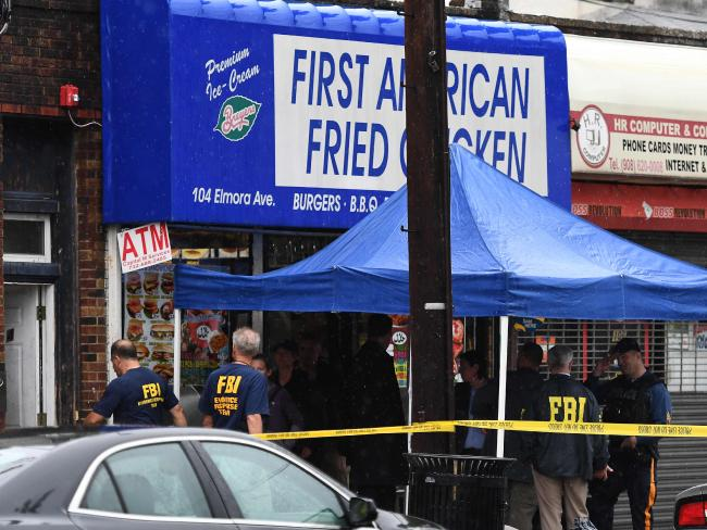 Investigators with a Federal Bureau of Investigation (FBI) hunt inside a family grill and adjoined unit of Ahmad Khan Rahami in Elizabeth, New Jersey, on Sep 19, 2016. Picture: AFP.