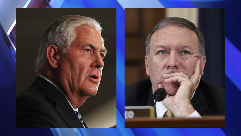 Rex Tillerson out as Secretary of State replaced by CIA Director Mike Pompeo   Tillerson, Pompeo