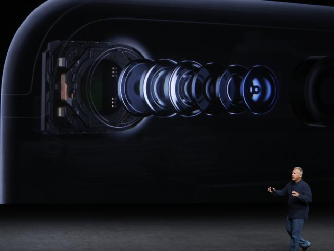 Apple Senior Vice President of Worldwide Marketing Phil Schiller talks about a new camera. Picture: Getty
