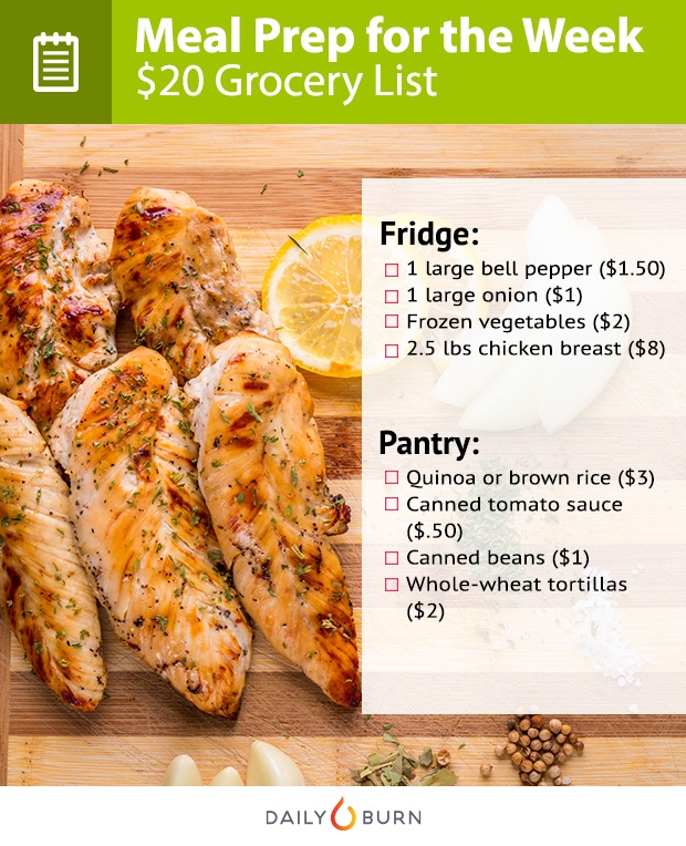 Meal Prep for Less Than $20 a Week: Your Grocery List