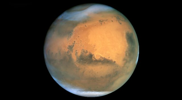 Mars from Hubble