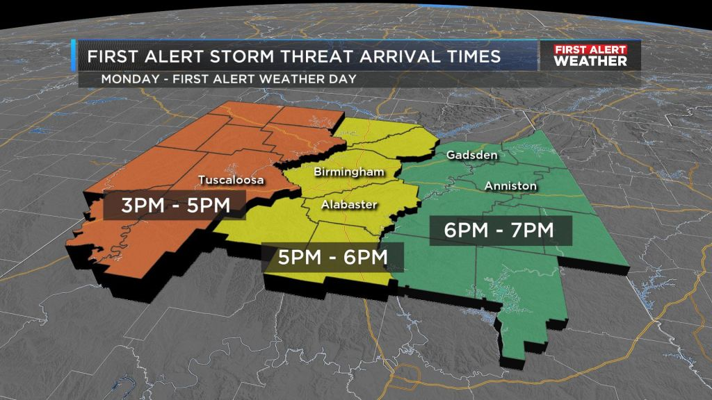 Storms late Monday night, severe weather possible
