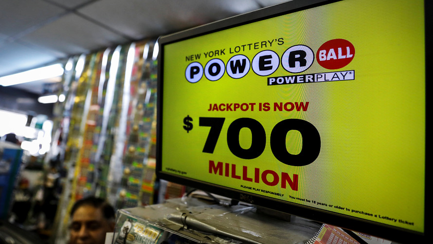 Reuters            A screen displays the value of the Powerball jackpot at a store in New York City on Tuesday