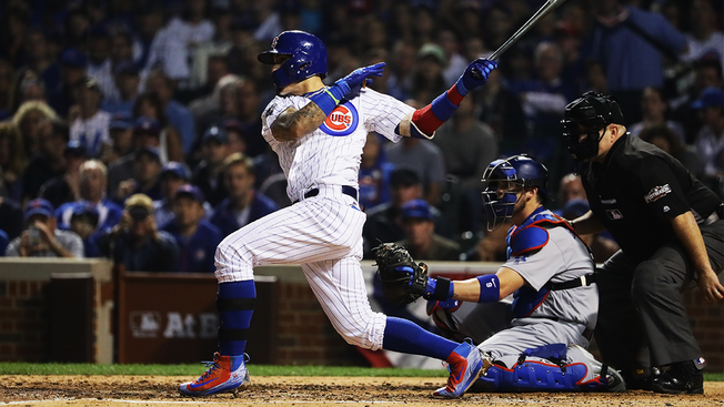 Montero's PH impact rises Cubs over Dodgers 8-4 in NLCS opener
