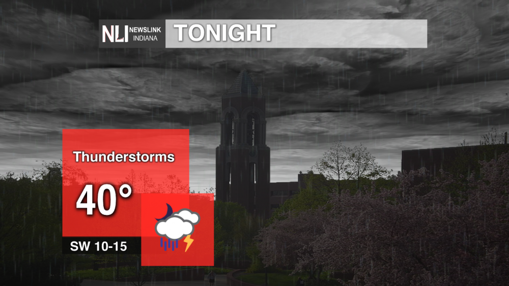 Strong thunderstorms possible tonight, Tuesday