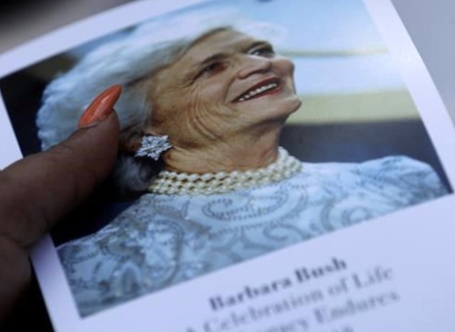 Carriers Bush and Washington honor former First Lady Barbara Bush