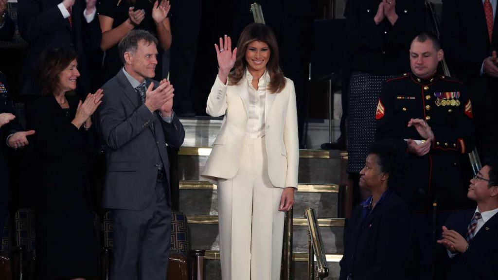 First lady Melania Trump at the State of the Union Address