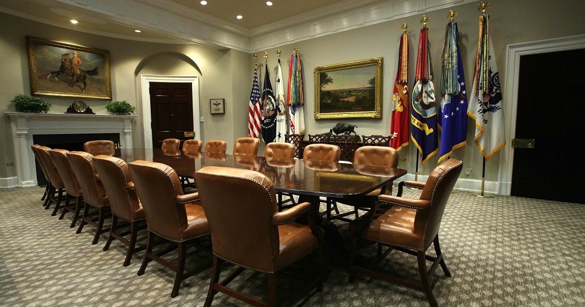 The Roosevelt Room after renovations seen on Aug. 22 2017  Getty