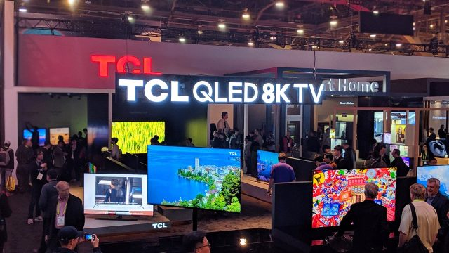 8K Tvs (and monitors) were visible in many booths. Of course, most of us are still just starting to get real 4K content, and unless you have a very-large screen you probably can't see the difference between 4K and 8K, but the industry is determined to keep pushing the resolution envelope to grow sales.