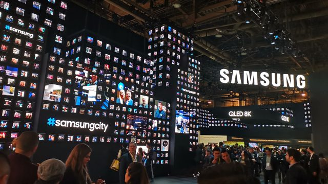 Looking at some of the huge mini-city-size booths like Samsungs, it's tempting to think they should leave them up for a few more days and use them as a set for an episode of Black Mirror.