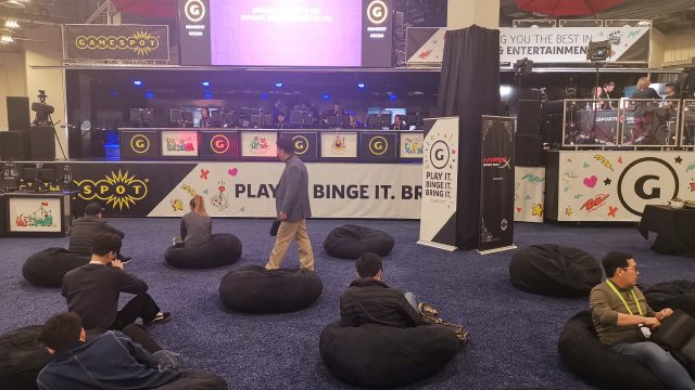 HyperX spent a lot on laying out a major presence for eSports at the show, across multiple venues. I think half the folks at this particular exhibit just loved the bean bag chairs.