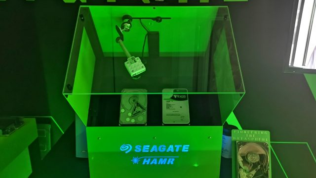 Disk drives aren't always the most exciting but Seagate showed us two very cool emerging technologies. HAMR (laser-heated recording) and multi-actuator. Together they'll mean seriously huge (20TB) and fast HDDs within the next few years.